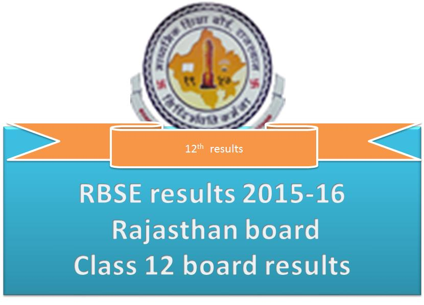 RBSE results 2015-16