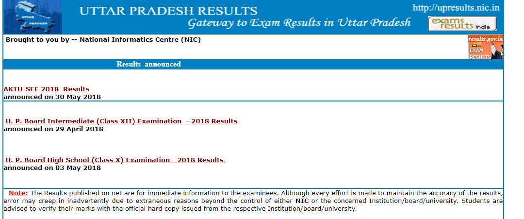 up board result 2019 high school @ upresults.nic.in 2